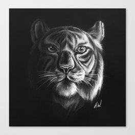 """""""White Tiger"""" Drawing Canvas Print"""