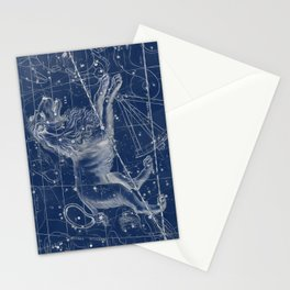Leo sky star map Stationery Cards