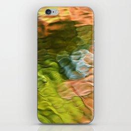 Salmon Mosaic Abstract Art iPhone Skin