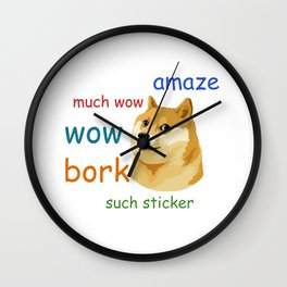 Doge Meme Wall Clock
