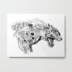 Roaring beast Metal Print