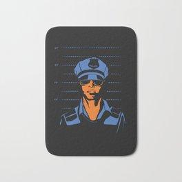 Dirty Cop Mugshot Police Brutality Art Print Bath Mat