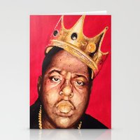 biggie smalls Stationery Cards featuring Biggie Smalls by Danielle Mariah