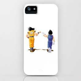 Fan Art Goku and Vegeta friends iPhone Case