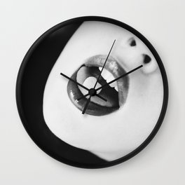 Love in Black and White Wall Clock