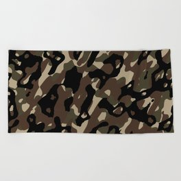 Camouflage Abstract Beach Towel
