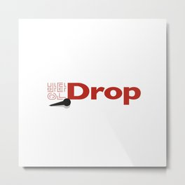BTS(Mic Drop)-Korean(Hangul) Typography by Ania Mardrosyan Metal Print