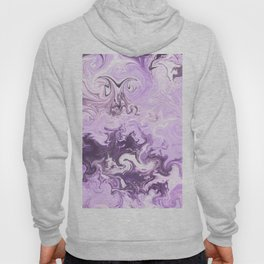 Abstract modern lavender burgundy watercolor marble pattern Hoody