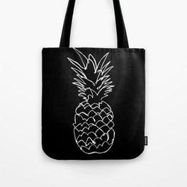single line pineapple (white) Tote Bag