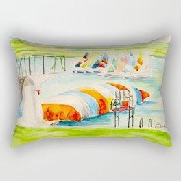 Camp Longhorn - The Blob Rectangular Pillow