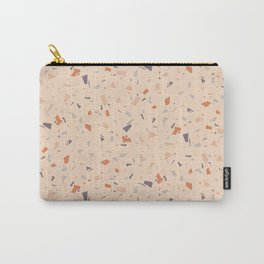 Sand Peachy Terrazzo - Abstract Granite Marble Texture - Speckles Pattern Carry-All Pouch