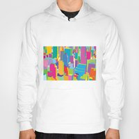 cityscape Hoodies featuring Cityscape by Glen Gould