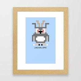 8 Bit Jackalope Framed Art Print