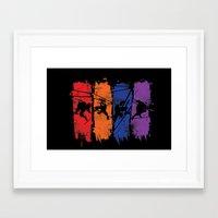 teenage mutant ninja turtles Framed Art Prints featuring TEENAGE MUTANT NINJA TURTLES by Beka