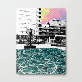 Swimming ball Metal Print
