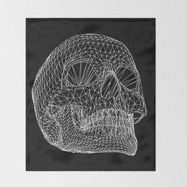 Vector Skull Throw Blanket