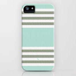 HERRINGBONE STRIPE V - MINT iPhone Case