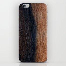 Walnut veneer brown design of wood iPhone Skin
