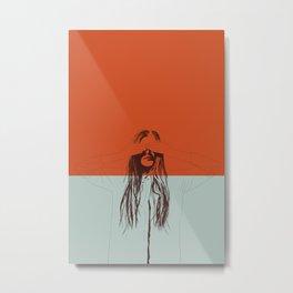 Woman Color 2 Metal Print