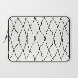 Moroccan Diamond Weave in Black and White Laptop Sleeve