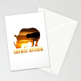 Safari Africa Black Rhino Stationery Cards