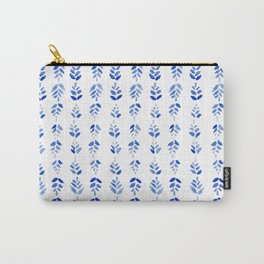Indigo Blossom - nature watercolour pattern Carry-All Pouch