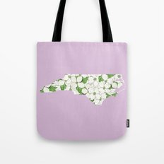 North Carolina in Flowers Tote Bag