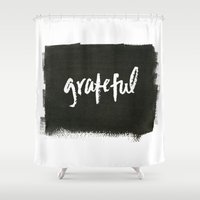 grateful dead Shower Curtains featuring grateful by Social Proper