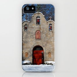 Portiuncula Chapel in Winter III iPhone Case