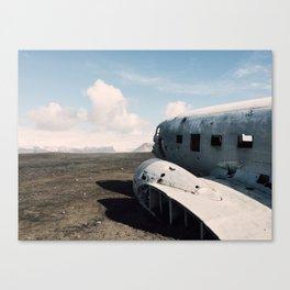 sólheimasandur plane wreck Canvas Print