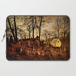 Old Cemetery at Night Laptop Sleeve