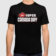 150th Super Canada Day Mens Fitted Tee Black MEDIUM