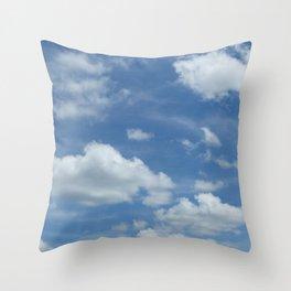Blue Summer Sky // Cloud Photography Throw Pillow