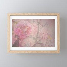 Parisian Romantic Collage Framed Mini Art Print