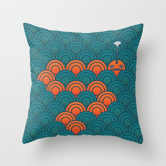 The Last Sea Monster Throw Pillow