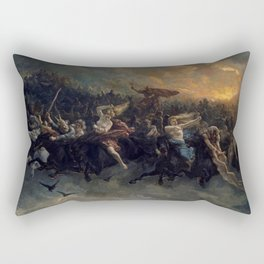 Peter Nicolai Arbo The Wild Hunt Of Odin Restored Rectangular Pillow