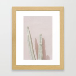 Palm Springs Cacti Framed Art Print