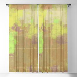 Color Splendor No.1b by Kathy Morton Stanion Sheer Curtain