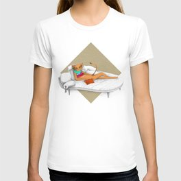 napping while reading T-shirt