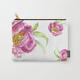 Peonies UriKuri Watercolour Carry-All Pouch