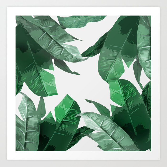 Tropical Palm Print Art Print
