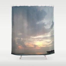 Flagler Beach Pier Shower Curtain