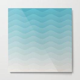 Deeb blue sea waves Metal Print