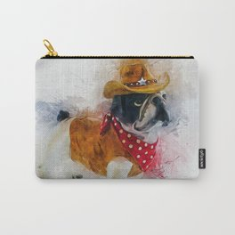 Cowboy Bulldog Carry-All Pouch