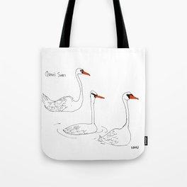 Queen's Swans Tote Bag