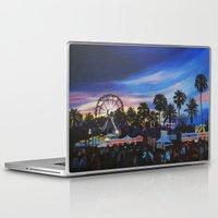 coachella Laptop & iPad Skins featuring Coachella Sunset by Paula Savage