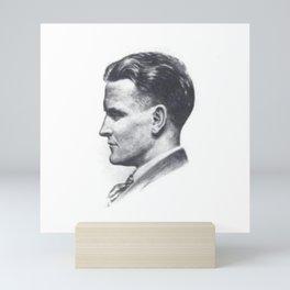 A portrait of F Scott Fitzgerald Mini Art Print