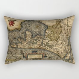 Map Of Holland 1570 Rectangular Pillow