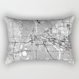 Minneapolis White Map Rectangular Pillow