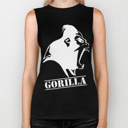 funny gorilla Biker Tank